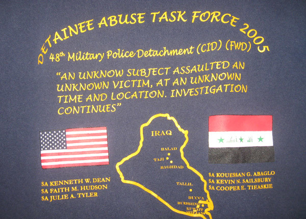 T-shirt worn by the Detainee Abuse Task Force